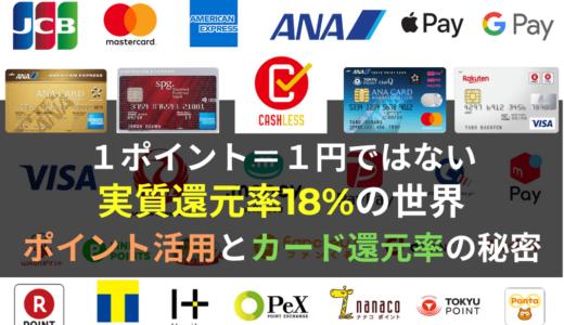 【重要】知っていますか?ポイント活用とカード還元率の秘密(1ポイント=1円ではない)